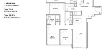 riviere-floor-plan-3-bedroom-singapore-condo